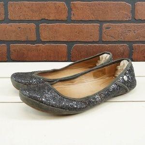 UGG Antora Black Glitter Ballet Flats Size 6.5